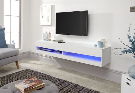 Gendal King Size Wall Tv Unit With Led