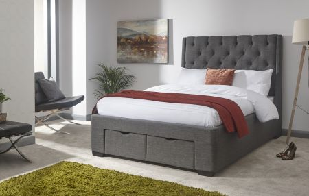 Korrist Storage Drawer Bed - Grey