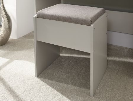 Kenneth Dressing Table With Stool Grey
