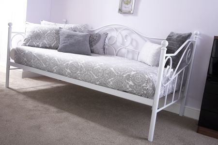 Marlow Day Bed Frame Only White