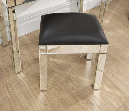 Venkova Stool Clear Mirror Finish