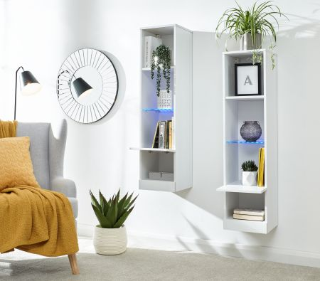 Gendal Tall Shelf Unit With Led