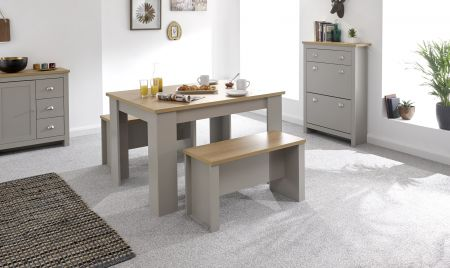 Lanquest Small Double Dining Table & Benches