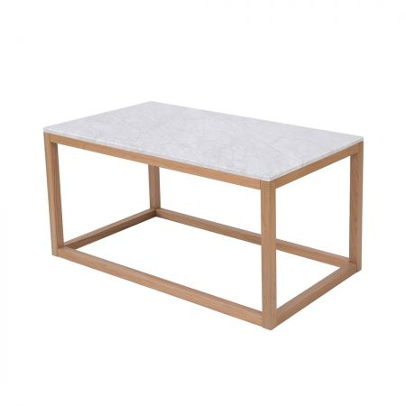 Newry Coffee Table Oak-White Marble Top
