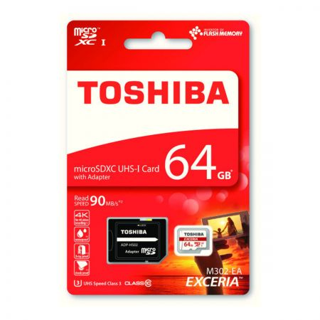 Toshiba M302-64GB-MICSD 64GB MicroSD Card with Adaptor