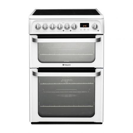 Hotpoint Ultima HUE61PS Electric Cooker with Ceramic Hob