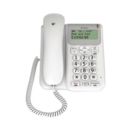 BT DECOR2200 Corded Telephone - 50 Number Memory
