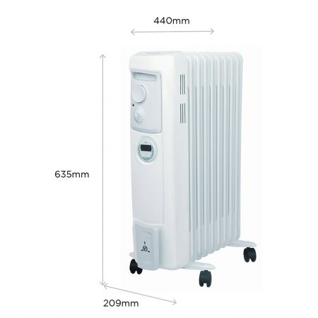 Dimplex OFC2000TI 2kW Electric Oil Filled Column Radiator