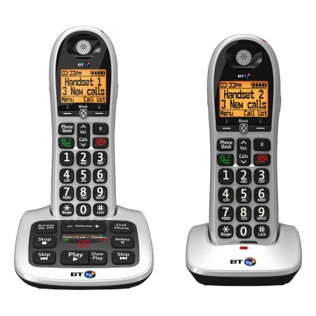 BT 4600 BT Twin Pack Digital Cordless Telephone with Answer Machine in Silver