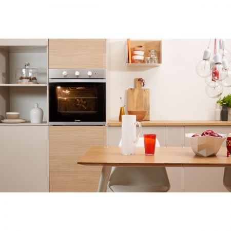 Indesit Aria KFW3543HIXUK 71L Built-In Electric Single Oven