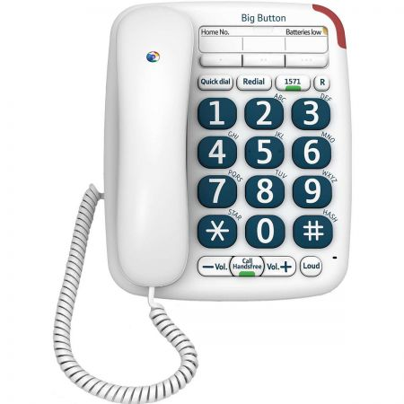 BT BIGBUTTON-200 Hearing Aid Compatible Big Button Phone