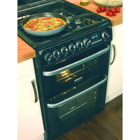 Hotpoint CH60GCIK 4 Hob Double Gas Cooker