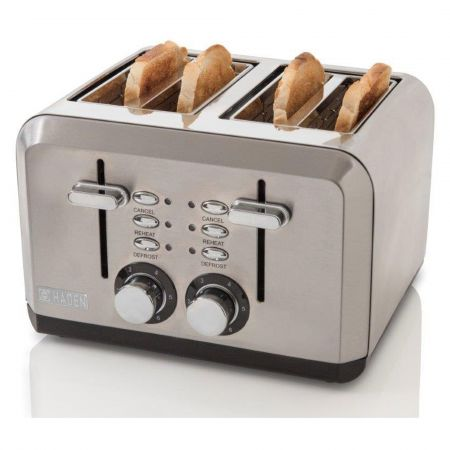 Haden 183477 1600W Sleek 4 Slice Toaster