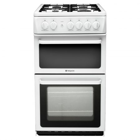 Hotpoint HD5G00KCWUK A Rated 500mm Gas Cooker - White