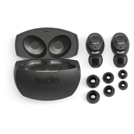 Sudio TOLV-R True Wireless Headphones in Black