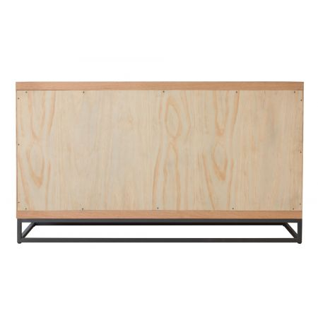 Inox 3 Door Sideboard Oak