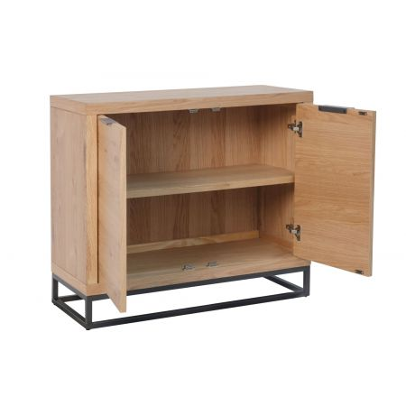 Inox 2 Door Sideboard Oak