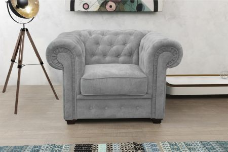 Chesterfield Armchair Brown Leather