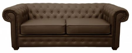 Chesterfield 2 Seater Sofas - Brown Leather