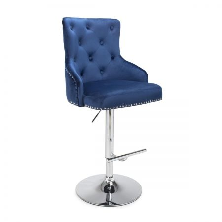 Javier Brushed Velvet Bar Stool