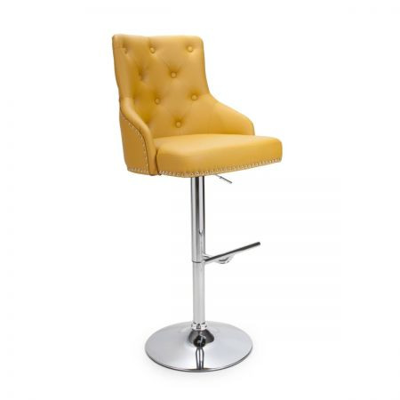 Javier Leather Match Bar Stool