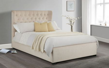 Hevena Winged Headboard Bed