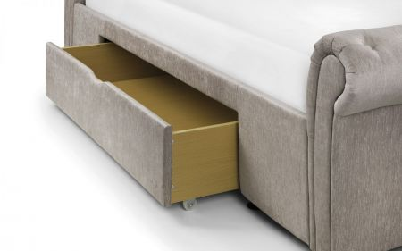 Mavano Deep Button Scroll Bed