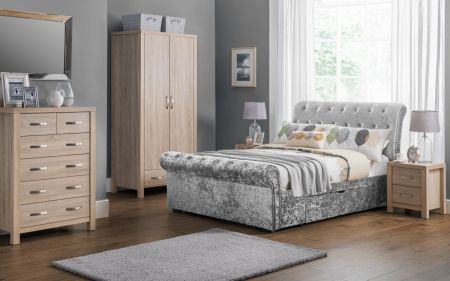 Sixton Deep Button Scroll Bed