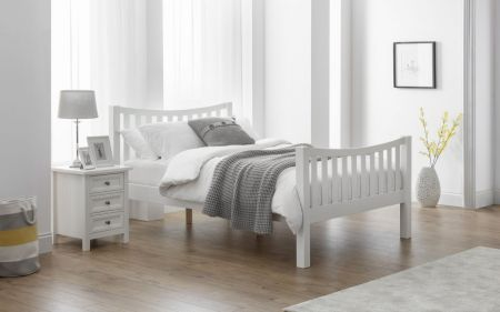 Radison Curved Bed Surf White Lacquer