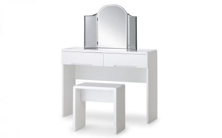 Manharlow Dressing Table With 2 Drawers- White