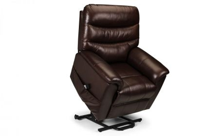Pulami Leather Rise & Recline Chair - Dual Motor