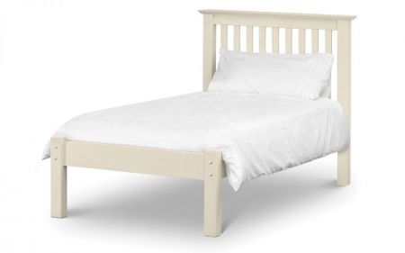 Barlinton Wooden Bed Low Foot End White Small Double