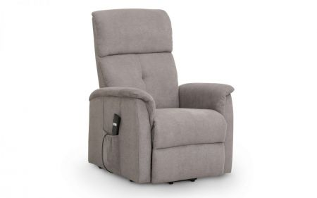 Avram Rise And Recline Chair Taupe Fabric