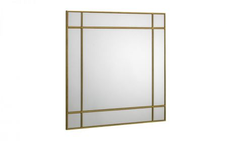 Forsica Gold Square Wall Mirror
