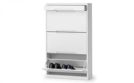 Manharlow Shoe Cabinet With Drawer- White