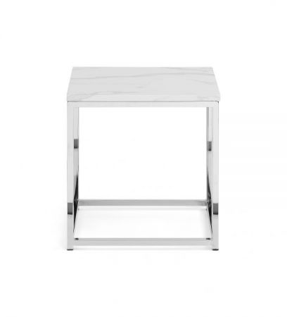 Scallao Marble Top Coffee Table - White Marble