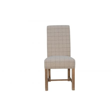 Criten Woolen Upholstered Chair Check