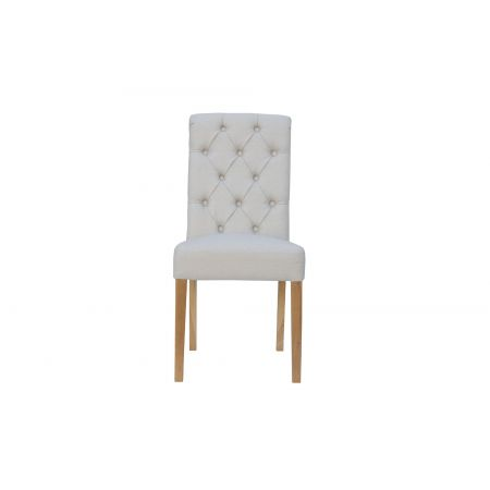 Criten Button Back Chair With Scroll Top