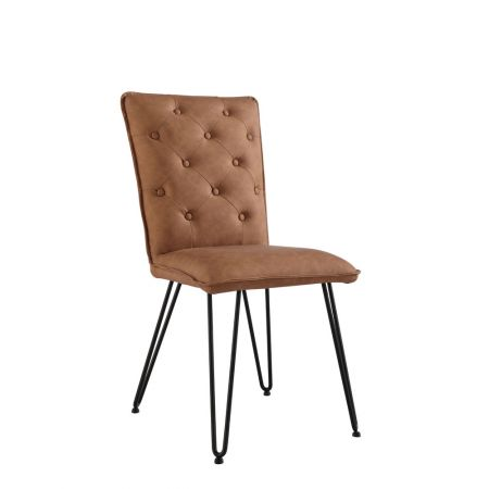 Criten Studded Back Chair With Hairpin Legs