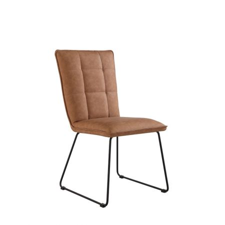 Criten Panel Back Chair With Angled Legs