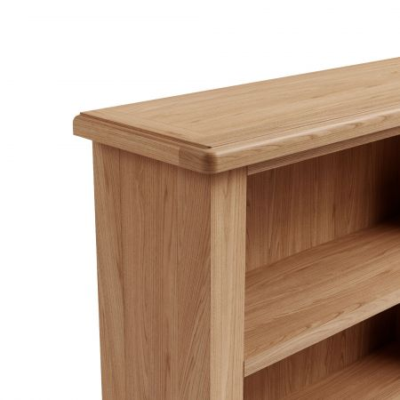 Garrow Small Wide Bookcase Oak