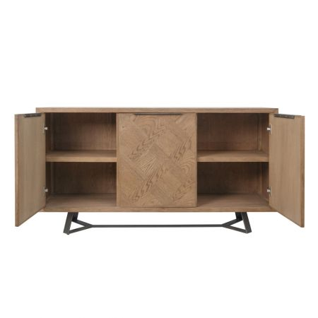 Incia 3 Door Sideboard Oak