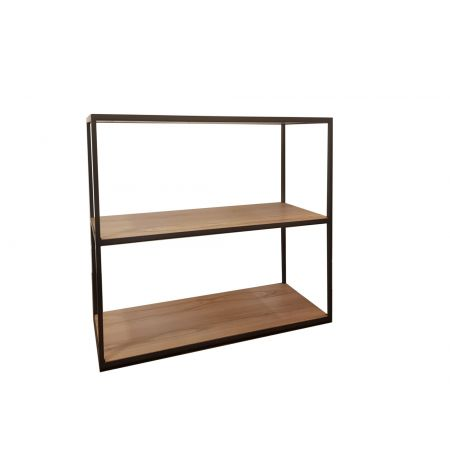 Inox Small Bookcase Oak