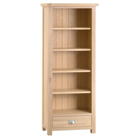 Lovran Medium Wooden Bookcase Oak