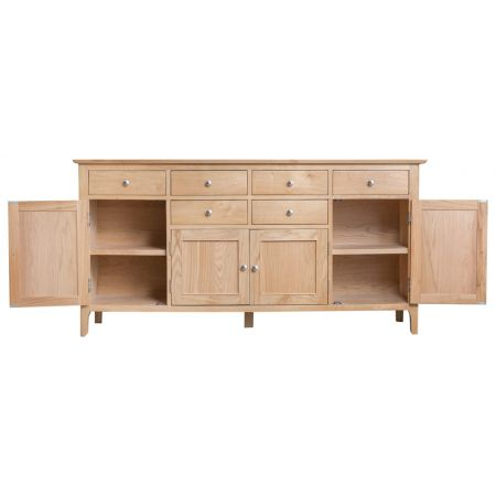 Nosten Large 4 Door Sideboard Oak
