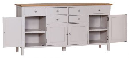 Nuton Large 4 Door Sideboard Grey