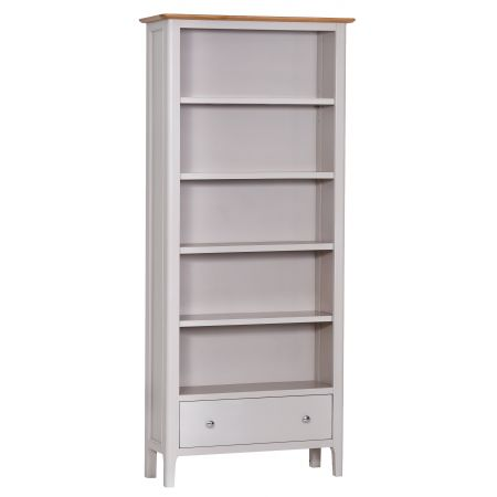 Nuton Wooden Bookcase Grey