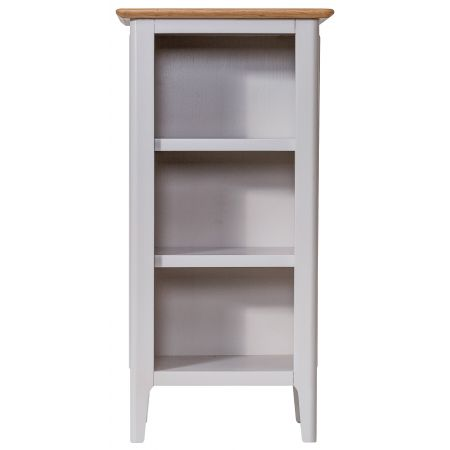 Nuton Wooden Small Narrow Bookcase Grey