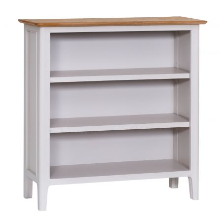 Nuton Wooden Small Wide Bookcase Grey