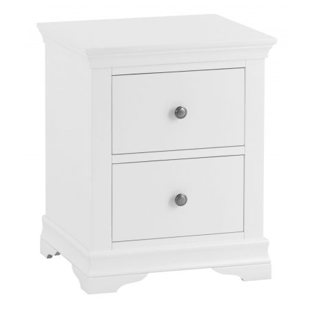 Swinco 2 Drawer Bedside Table White